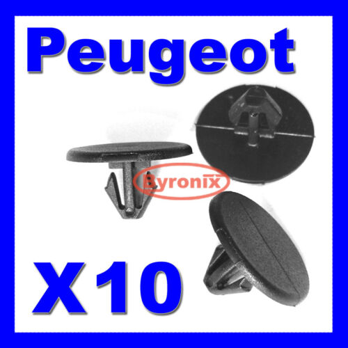 Peugeot Sombrero Forro aislamiento Trim Clips 1007 107 206 207 Ranch