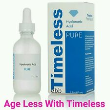 Timeless Skin Care 100% Hyaluronic Acid. Plump & Hydrate Your Skin. Sealed. 2oz