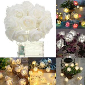 20-LED-Rose-Flower-Garland-String-Light-Fairy-Wedding-Party-Christmas-Decoration