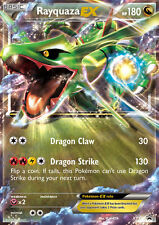 Pokemon Card Rayquaza EX XY73 Ultra Rare Holo Legendary Promo Card + Hard Sleeve