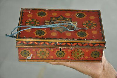 Czechoslovakia To Prevent And Cure Diseases Strict Vintage Fine Red Colorful Litho Tin Safe /money Box Other Decorative Collectibles