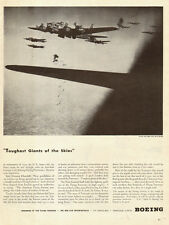 1944 WW2 aircraft AD, Boeing B-17 formation unloading Bombs Great Picture 101814