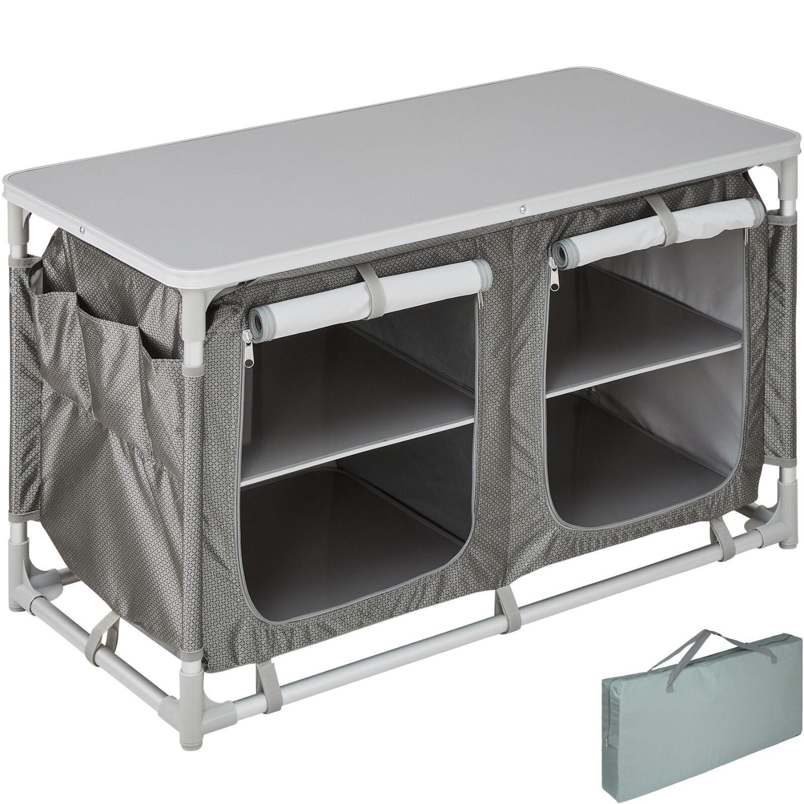 Unidad de almacenamiento de Aluminio Soporte De Cocina Camping Portátil Cocina Ligero