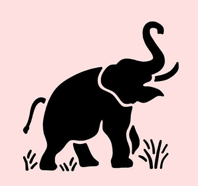 photograph about Printable Elephant Stencil identified as ELEPHANT STENCIL SAFARI ANIMAL CRAFT PAINT TEMPLATE Habit Contemporary By way of STENSOURCE 740531994170 eBay