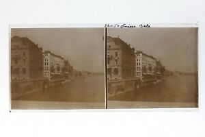 Suisse-Basilea-Basel-Foto-Stereo-T2L6n-Placca-Da-Lente-Vintage