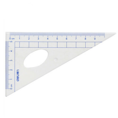 4Pcs Drawing Ruler Measuring Plastic Straight Triangle Stationery School Study