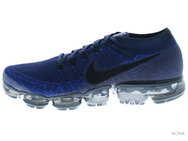NIKE AIR VAPORMAX FLYKNIT 849558-400 college navy black-game royal Size 9.5