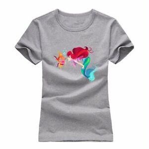 Disney-Princess-The-Little-Mermaid-Ariel-Women-039-s-Girl-039-s-T-Shirt-Graphic-Tee-Tops