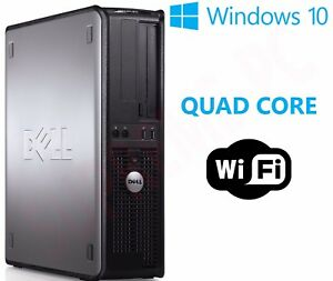 a69bfead224f08 FAST DELL QUAD CORE PC COMPUTER DESKTOP TOWER WINDOWS 10 WI-FI 16GB ...