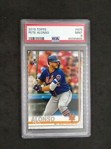 2019 Topps Series 2 Pete Alonso Rookie Card RC #475 PSA 9 MINT Mets