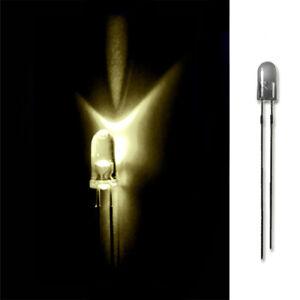 LED 3mm WARM WEIß 20/50/100/500 LEUCHTDIODEN SUPERHELL RUNDKOPF AUSWAHL