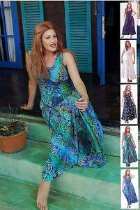 Boho Maxi Dress Plus Size Batik Fashion Made To Order Womens ...
