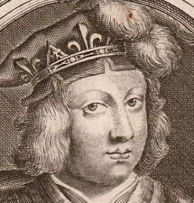 Clovis III Roi de France Austrasie Nicolas de Larmessin XVIIe Mérovingien