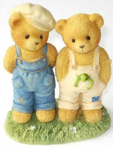 NIB 661864 FRIENDS CHERISHED TEDDIES 2000 FIGURINE BOYS FROG ERNEST BUGSY