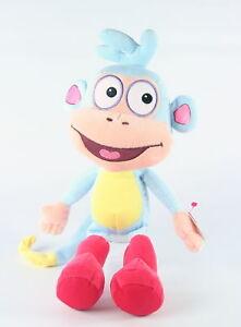 DORA-THE-EXPLORER-friend-BOOTS-12-034-monkey-plush-soft-toy-ty-BEANIE-BUDDY-NEW