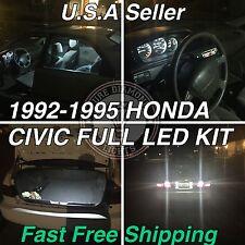 Eg Ej Full Led kit sedan Coupe 92-95 Honda Civic White Xenon USA Seller