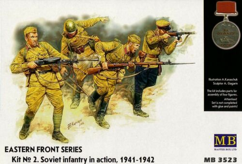 Scale 1:35 Master Box MB3523 Soviet infantry in action 1941-1942
