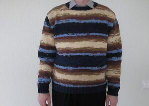 los hecho a lana invierno suéter de Nuevo mano de hombres punto de cálido de ruso Mezcla fv0YwqFp