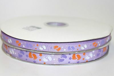 New baby neutral grosgrain 38mm ribbon new arrival baby shower hampers cakes