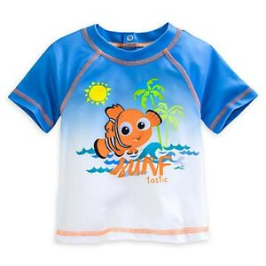 8e7336426d DISNEY STORE NEMO RASH GUARD FOR BABY SURFER STYLE STRETCH SWIM ...