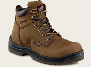 Red Wing 2240 6-Inch Mens Brown NON-METALLIC SAFETY TOE Waterproof Work Boots