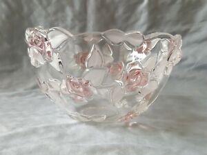 Mikasa-Crystal-Bella-Rosa-Pink-Frost-9-034-Serving-Bowl