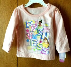 Infant-Girls-PRINCESS-Long-Sleeve-Tee-Size-18M-Pink