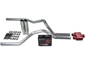 "Dodge Ram 1500 Truck 04-08 3/"" Dual Exhaust Kits Cherry Bomb Extreme Slash Tips"
