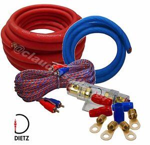 Dietz 20120 20mm² Kabelsatz 20qmm Car Amp Kabel Set für Verstärker Endstufe