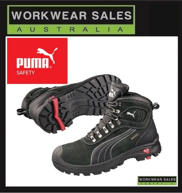 Puma Safety Sierra Nevada Black Work Boots WorkBoots Shoes Mens 630527 UK  SIZING daafbd1a0
