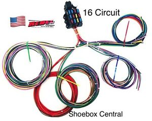 rebel wire 12 volt wiring harness, 16 circuit universal, made in ...  ebay