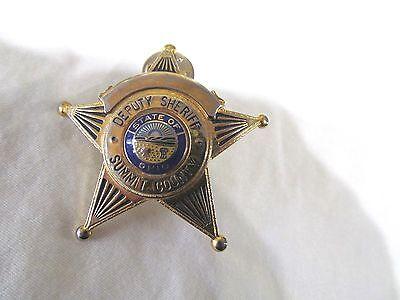 2dd26e701c2 OBSOLUTE DEPUTY SHERIFF HAT BADGE SUMMIT COUNTY OHIO
