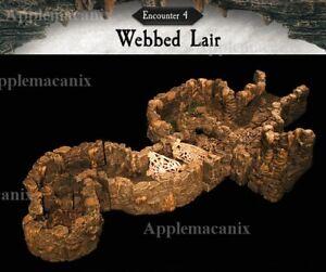 NEW-Dwarven-Forge-Caverns-Deep-Encounter-4-Webbed-Lair-D-amp-D-Tiles-Kickstarter