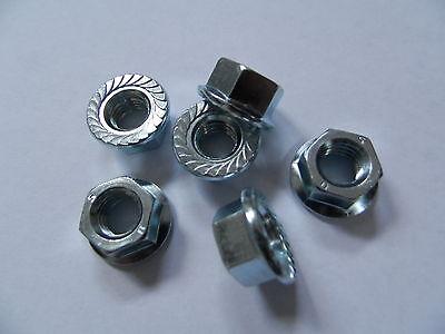 50 Stück Bundmuttern M3 Mutter DIN 6923 Stahl verzinkt #sperrzahn