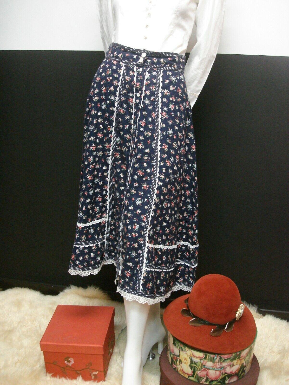 👒Vintage Gunne Sax Jessica's Gunnies Blue Floral… - image 3