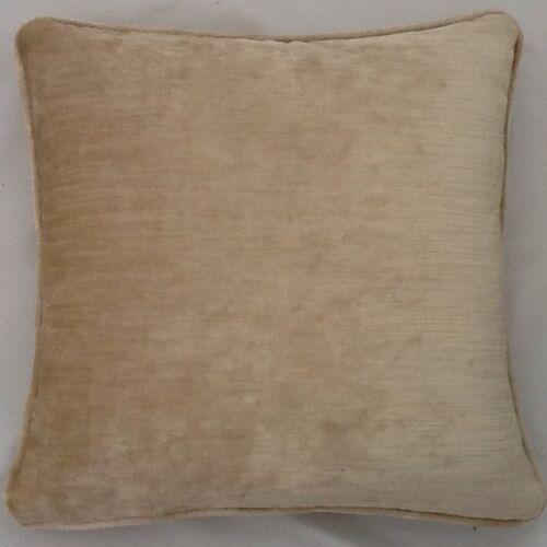 A 16 Inch Cushion Cover In Laura Ashley Matilda Champayne Velvet Fabric