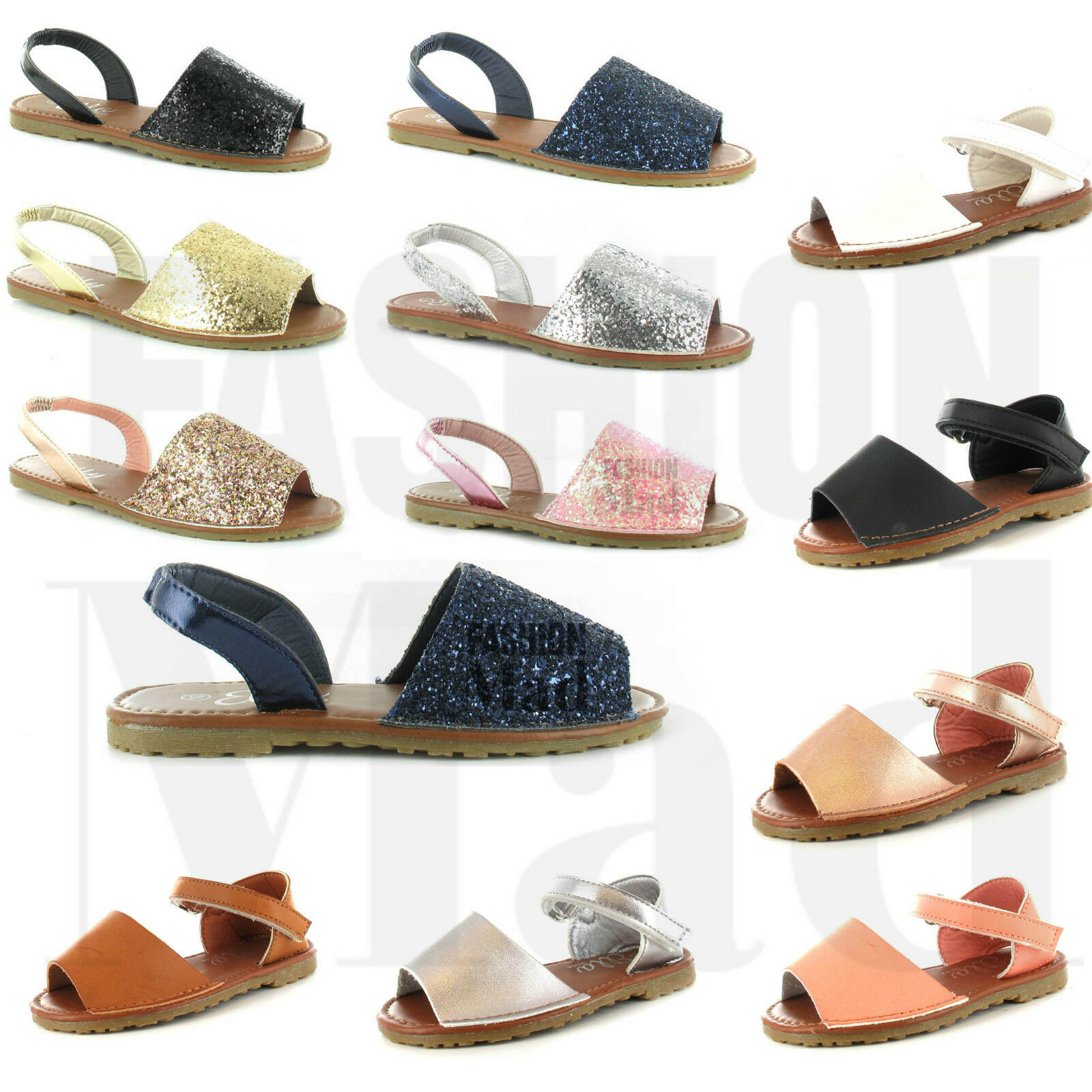 Man's/Woman's GIRLS LADIES GLITTER SUMMER MENORCAN SHOES SANDALS SLING BACK BEACH SHOES MENORCAN SIZE 10-2 Crazy price Pleasant appearance The first batch of customers' comprehensive specifications GH1032 bd8e45