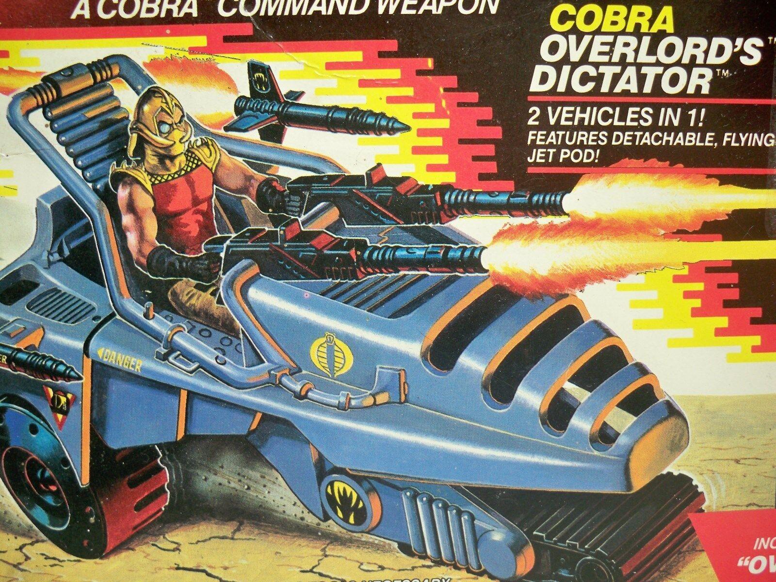 D1008904 OVERLORD'S DICTATOR 1989 GI JOE COBRA MISB MIB FACTORY SEALED NEW