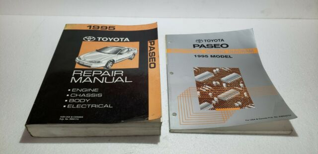 1995 Toyota Paseo Shop Service Repair Manual  U0026 Electronic