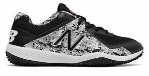 New-Balance-Kid-039-s-4040V4-Pedroia-Turf-Baseball-Big-Kids-Unisex-Shoes-Black-With