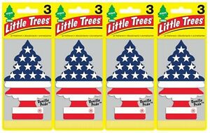 Lot of 24pk Vanilla Pride Scent Little Trees Hanging Car Air Freshners