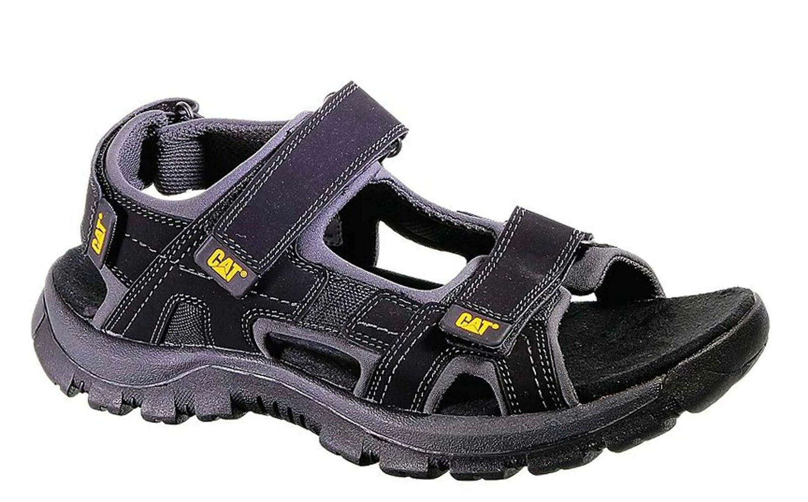 CAT Mens Wide Fit Giles Rugged And Durable Sandals in Black
