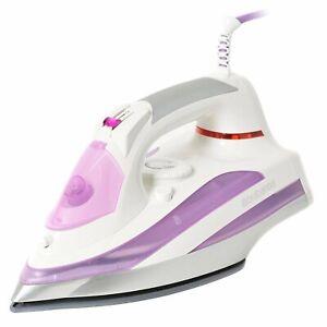 Brabantia-2600W-Electric-Steam-Iron-Ceramic-Soleplate-Self-Cleaning-In-Purple