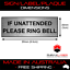 IF-UNATTENDED-PLEASE-RING-BELL-SILVER-SIGN-LABEL-PLAQUE-w-Adhesive