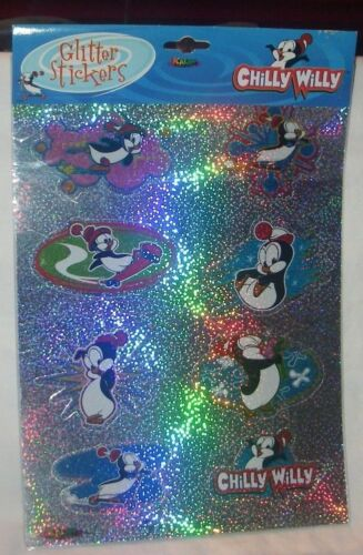 CHILLY WILLY GLITTER STICKERS WALTER LANTZ UNIVERSAL STUDIOS NEW  IN PACKAGE