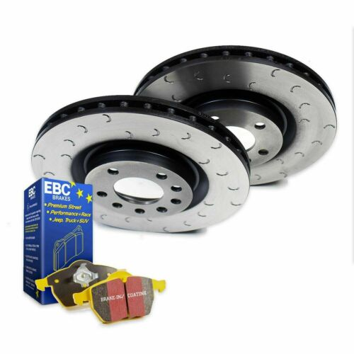 Peugeot 208 GTi Front Brake Discs Pads C Hook Grooved EBC Yellowstuff Pads 302mm