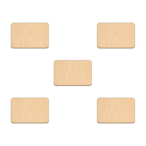 RECTANGLE Shape Craft Blank 7.6x5.1cm BIRCH Wood Plaque Sign Pyrography