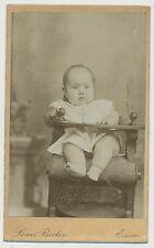 CDV Foto Essen, niedliches Baby im Hochstuhl um 1890  (A248)