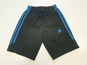 GG139-Garcons-Adidas-Noir-Bleu-Sport-Football-Short-Royaume-Uni-Age-7-8-Ans-W22-23