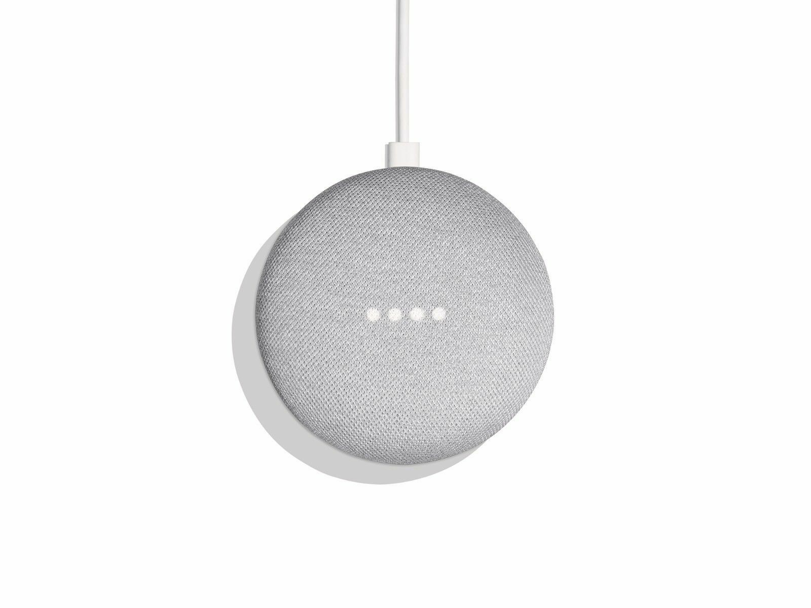 Google Home Mini in Chalk   -   FREE SHIPING      (TET1968)